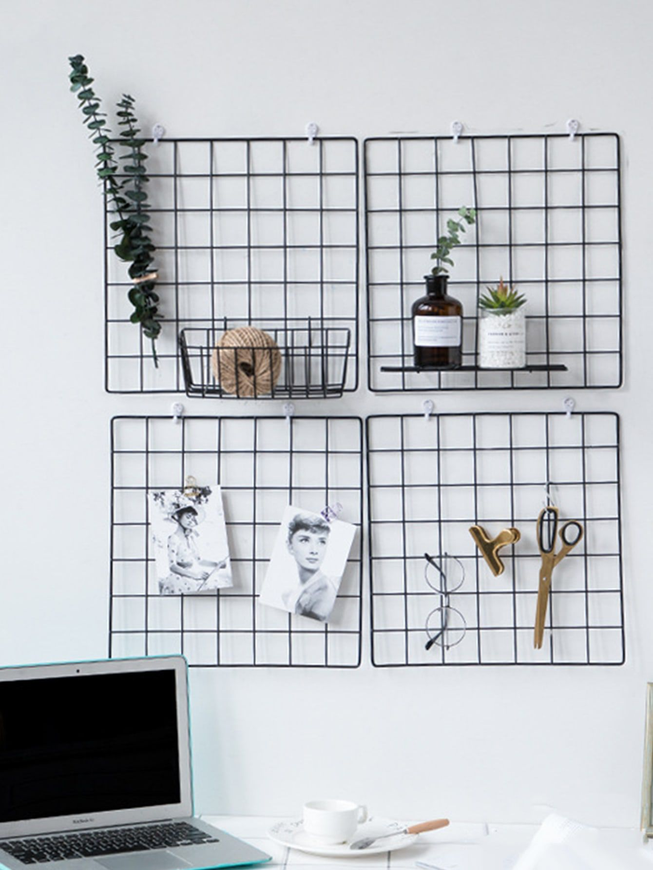 1pc Iron Grid Wall Hanging Decorative Rack Check Out This 1pc Iron Grid Wall Hanging Decorative Rack On Shein And Explore Metal Wall Grid Decor Cute Room Decor