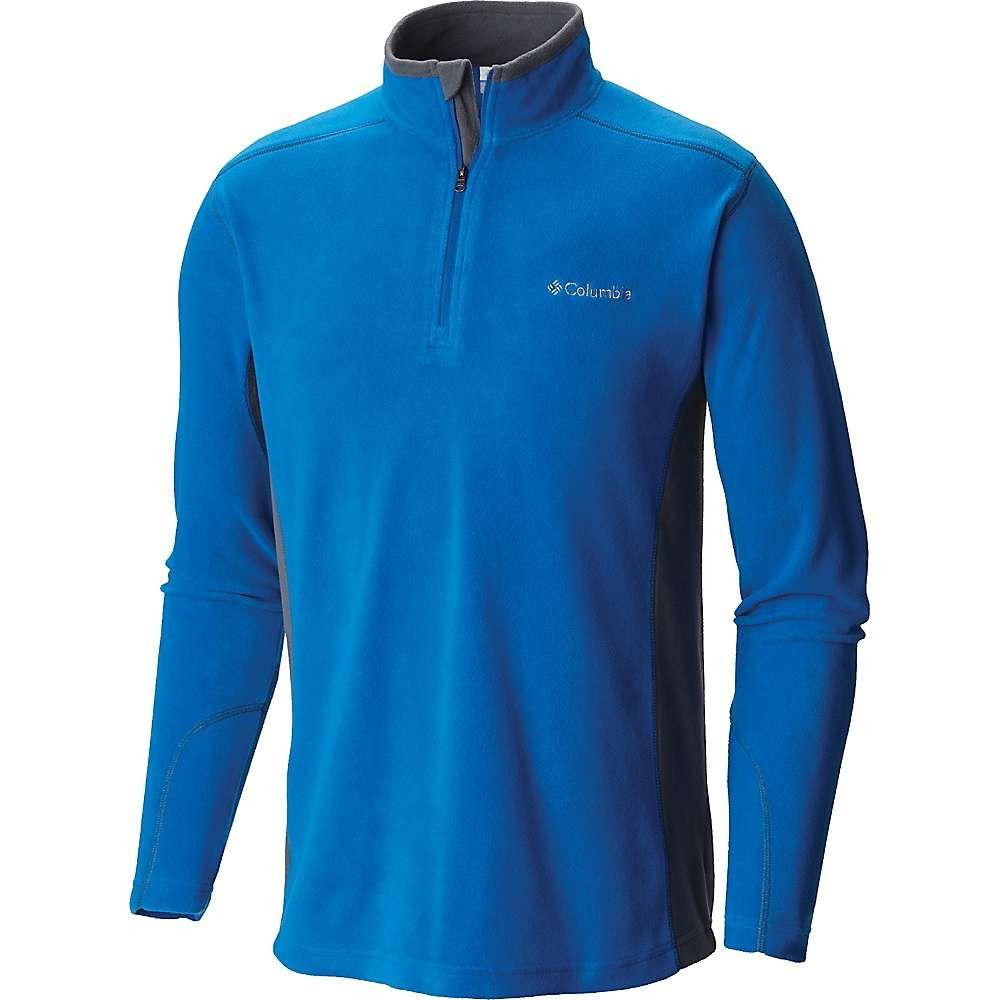 Azure Blue Columbia Mens Klamath Range II Half Zip Fleece Top