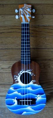 ebb and flow ukulele art ukulele ukulele art painted ukulele ukulele. Black Bedroom Furniture Sets. Home Design Ideas