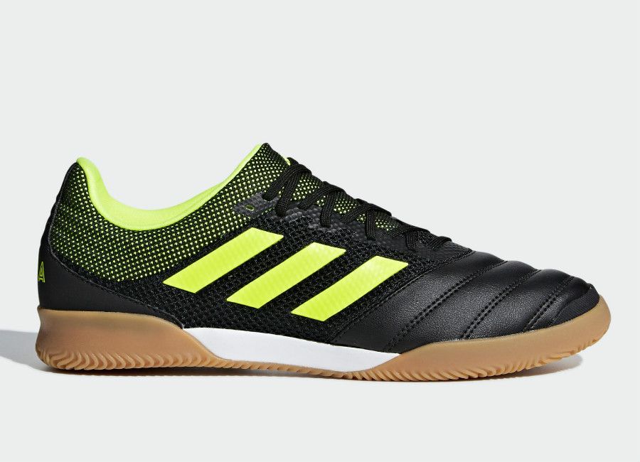 aa23f85f715 Adidas Copa 19.3 IN Sala Exhibit Shoes - Core Black / Solar Yellow / Gum M1  #futsal #adidasfootball #adidassoccer