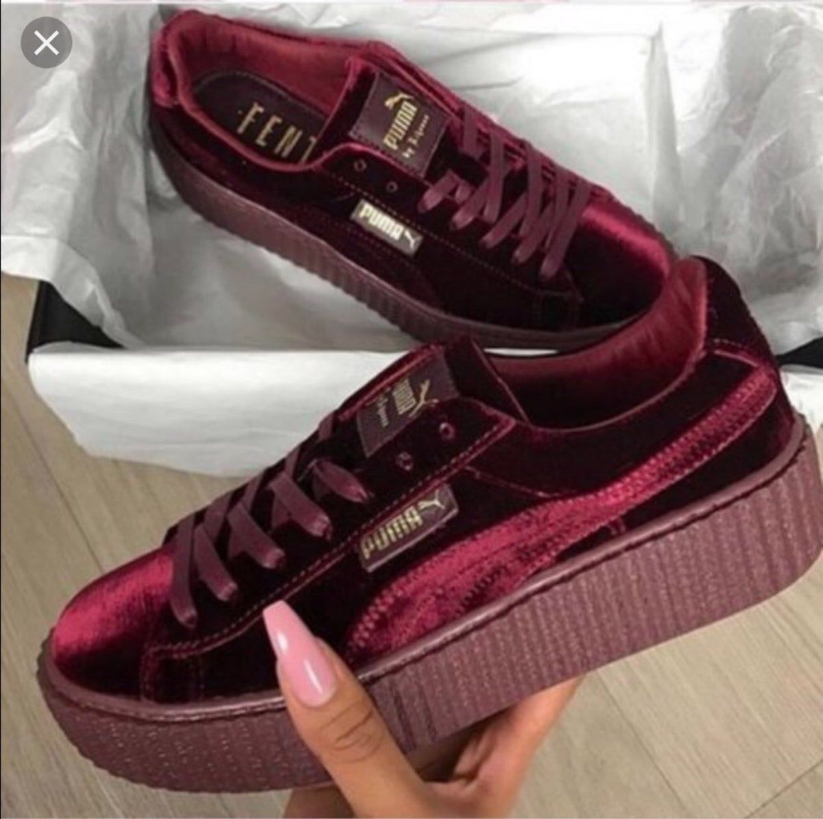 Red Velvet Puma Creepers in 2020