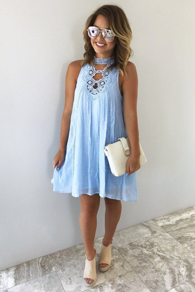In My Dreams Dress  Baby Blue  a8561acc3