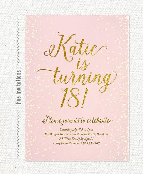 pink gold glitter 18th birthday