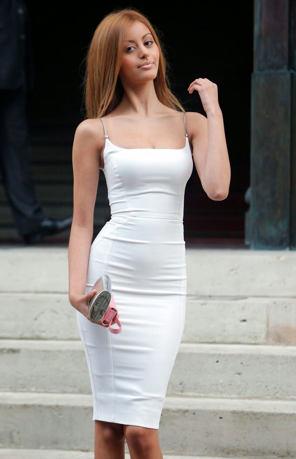 Fitted White Dresses