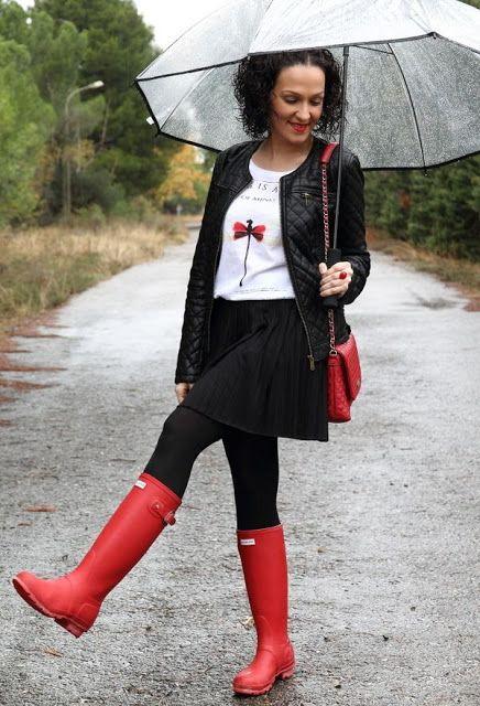 Precio De Botas Para Lluvia   Outfits De Moda   Pinterest   Lluvia Botas Y Botas De Mujeres
