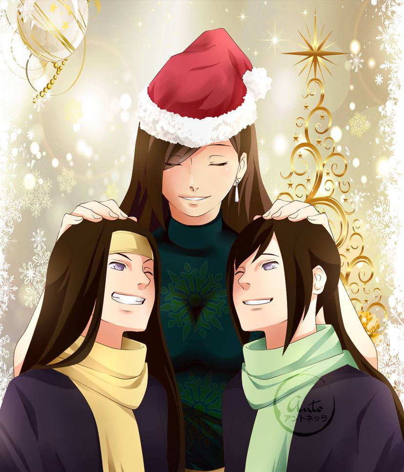 Merry Chritsmas Hyuga family by Antodonatella Naruto