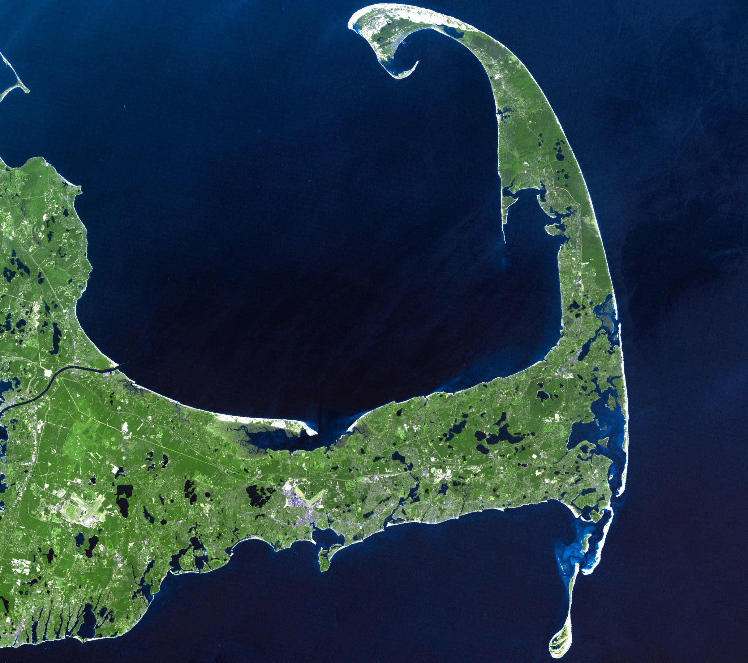 Image Detail For File Cape Cod Landsat 7 Jpg Wikipedia The Free Encyclopedia Cape Cod Favorite Places Oh The Places You Ll Go