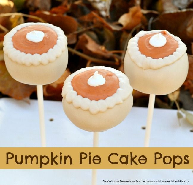Pumpkin Pie Cake Pops - a fun cake pop decorating tutorial perfect for the fall party & Pumpkin Pie Cake Pops Tutorial | Pumpkin pie cake Pie cake and Cake pop