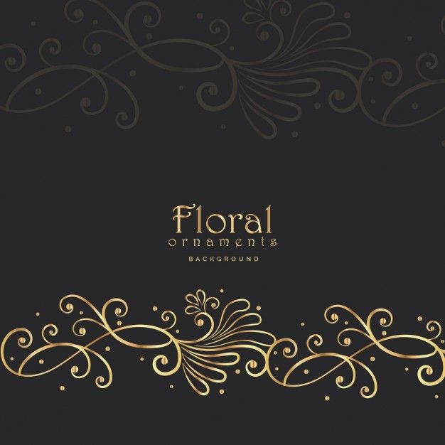 Download Black Floral Luxury Background For Free Vector Art Design Luxury Background Vector Free