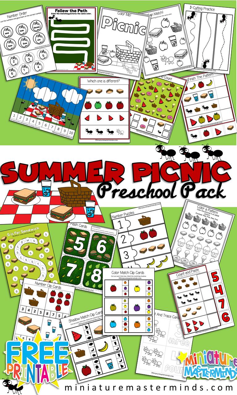 Summer Picnic Preschool Workbook And Activity Pack Preschool Workbooks Summer Preschool Activities Picnic Activities [ 1280 x 768 Pixel ]
