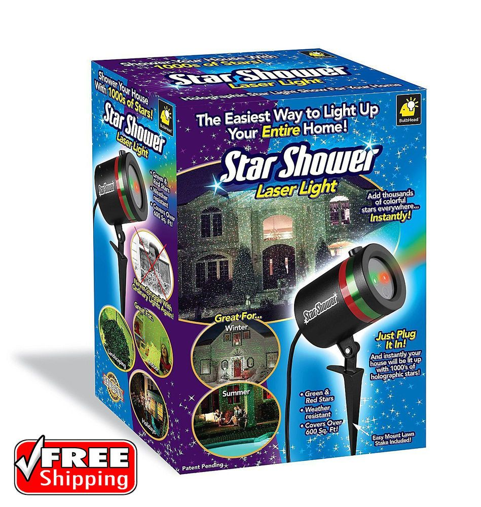 Outdoor laser christmas lights star shower projector 600 ft2 weather outdoor laser christmas lights star shower projector 600 ft2 weather resistant starshower aloadofball Image collections