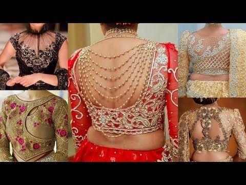 47cb38173b695 Latest Designer Blouse Designs. Stylish and Trendy Bridal Blouse Back Neck  Design - YouTube