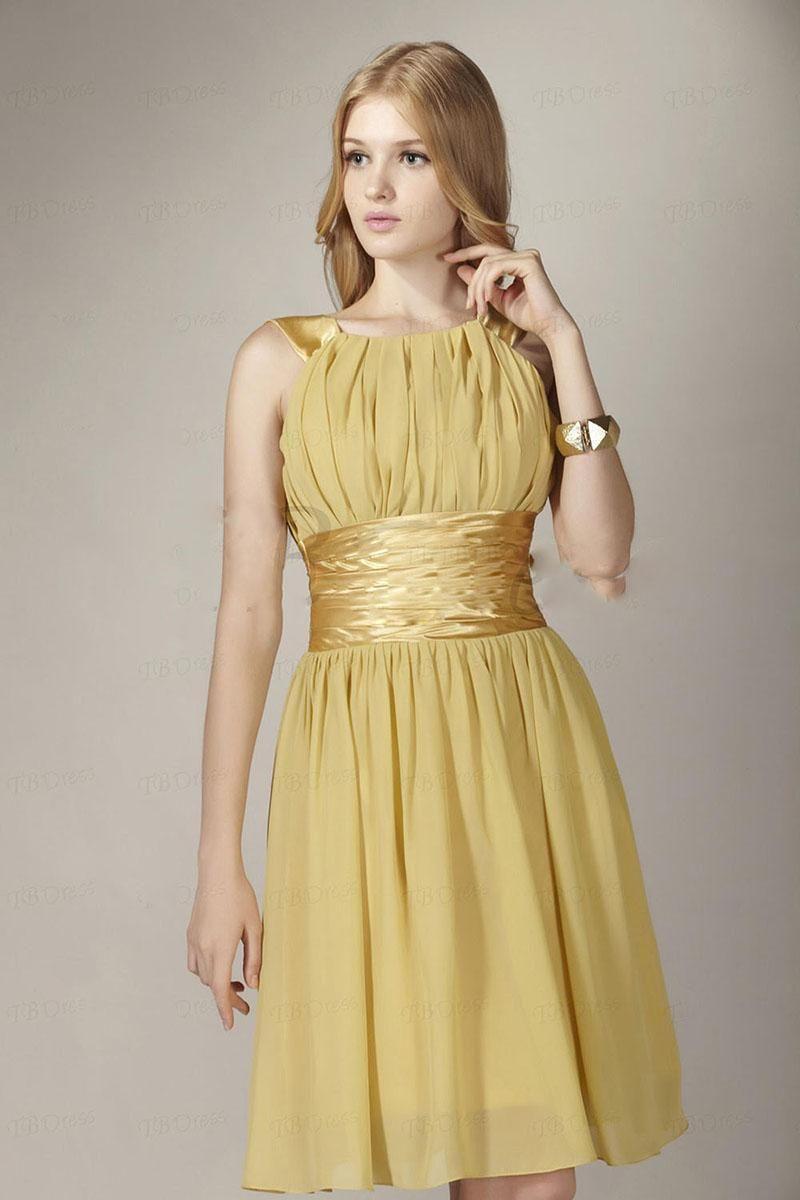 Gold color dresses
