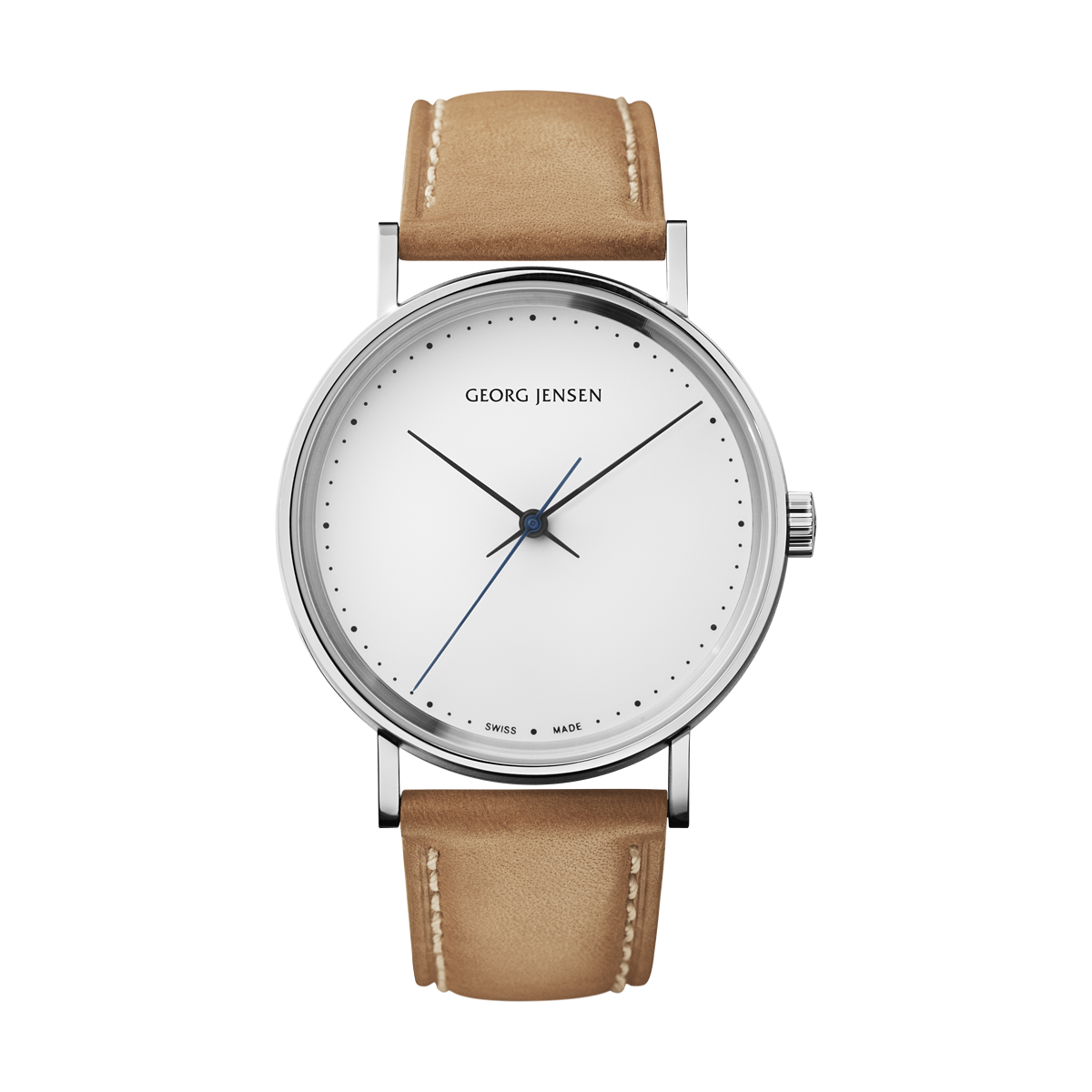 KOPPEL 41mm, Automatic mechanical, white dial, tan