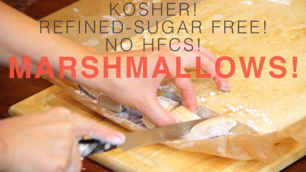 MARSHMALLOWS Gut Healthy Marshmallows (Kosher, Refined Sugar free, No HFCS) #healthymarshmallows