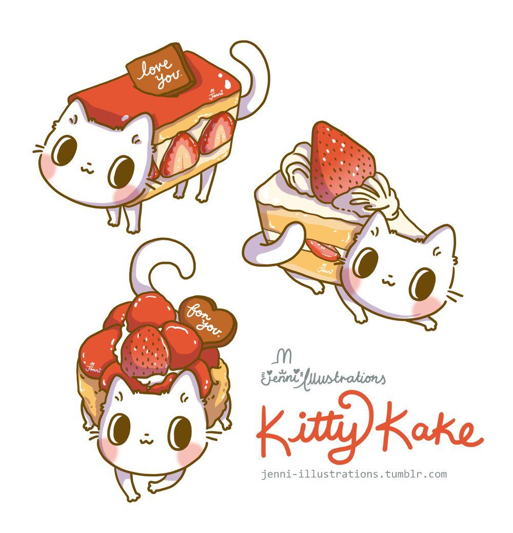 Jenni Illustrations Kitty Kake It S All About Cats