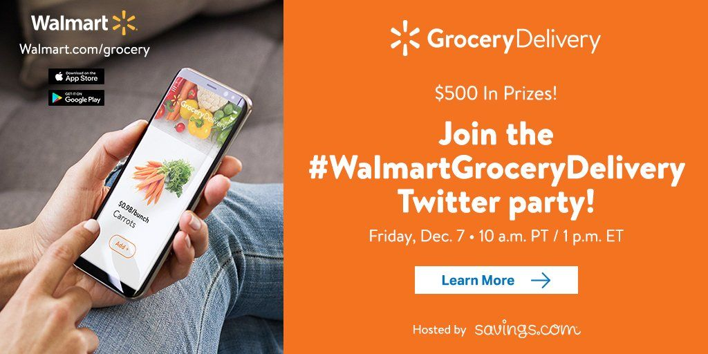 Join Us December 7th For The Walmartgrocerydelivery Twitter Party