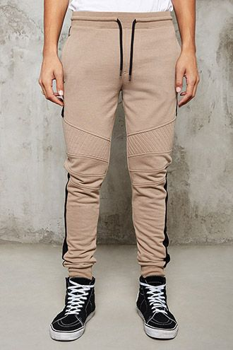 Colorblock Quilted Sweatpants | 21 MEN - 2000235983 | Pants - Mens ... : mens quilted sweatpants - Adamdwight.com