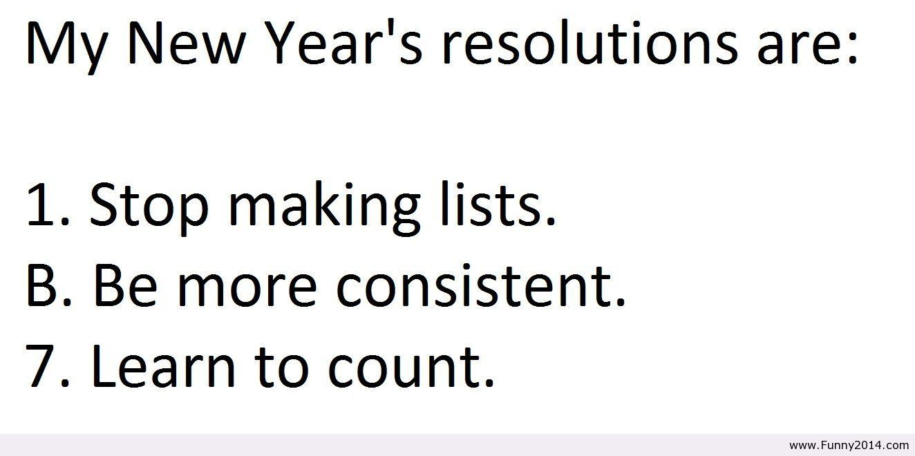Humorous New Years Resolutions Quotes Quotesgram Words