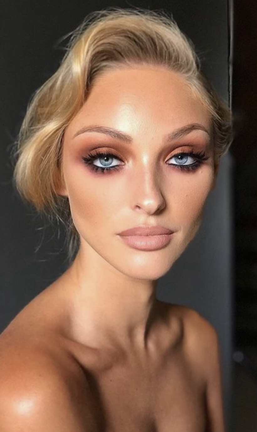 eyeshadow for blue eyes   blush and bronzed makeup looks for