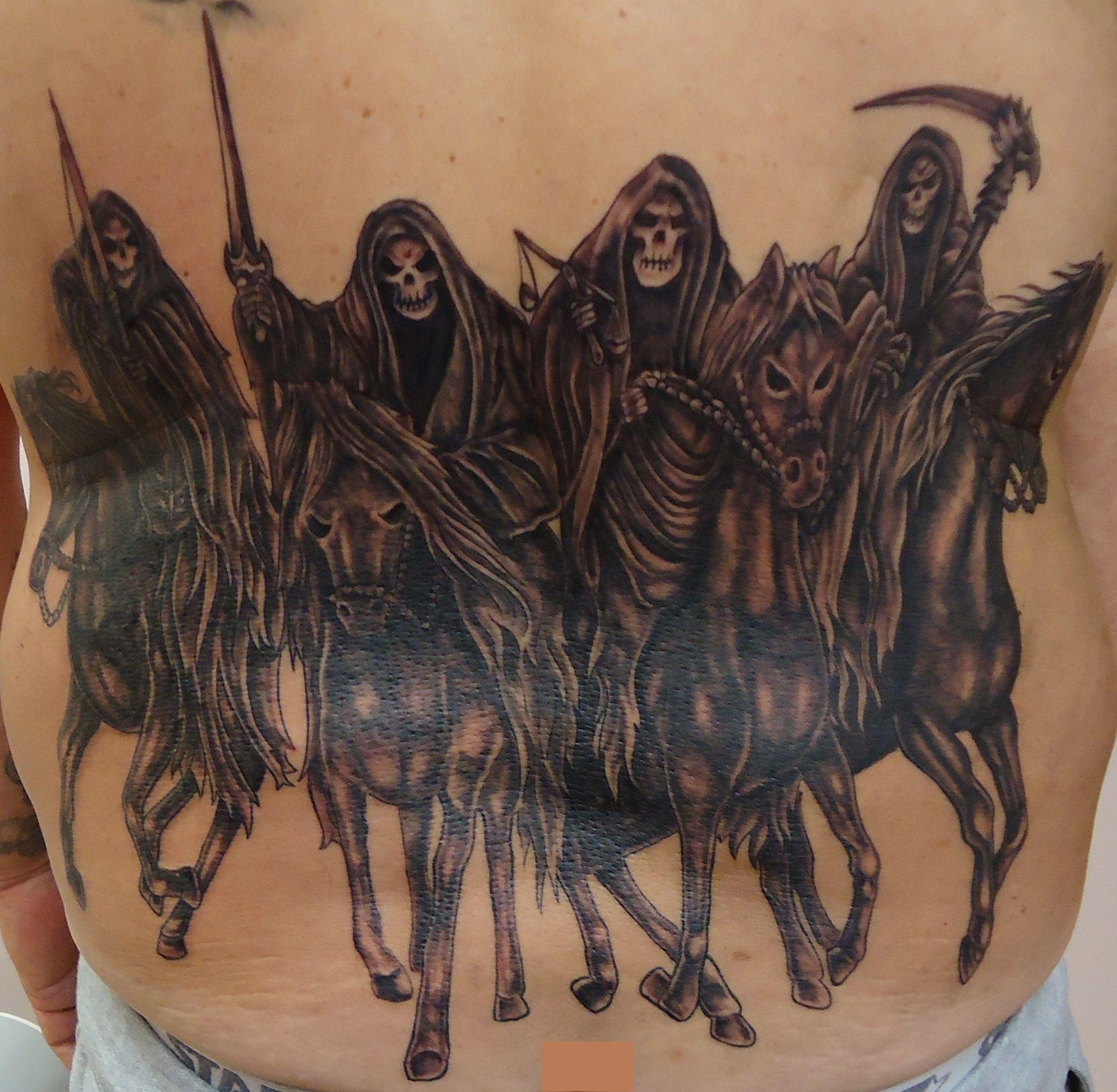 The Four Horsemen Of The Apocalypse Tattoo Google Search Tattoos Four Horsemen Of The Apocalypse Tattoo Apocalypse Tattoo