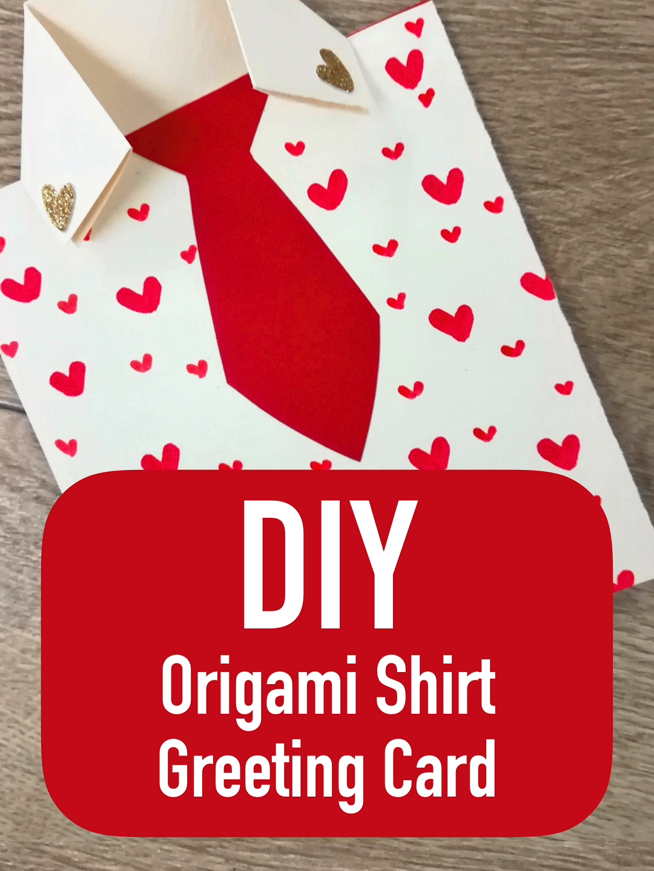 Diy Origami Shirt Wenskaart Vaderdag Decoratie Blog Clem Om