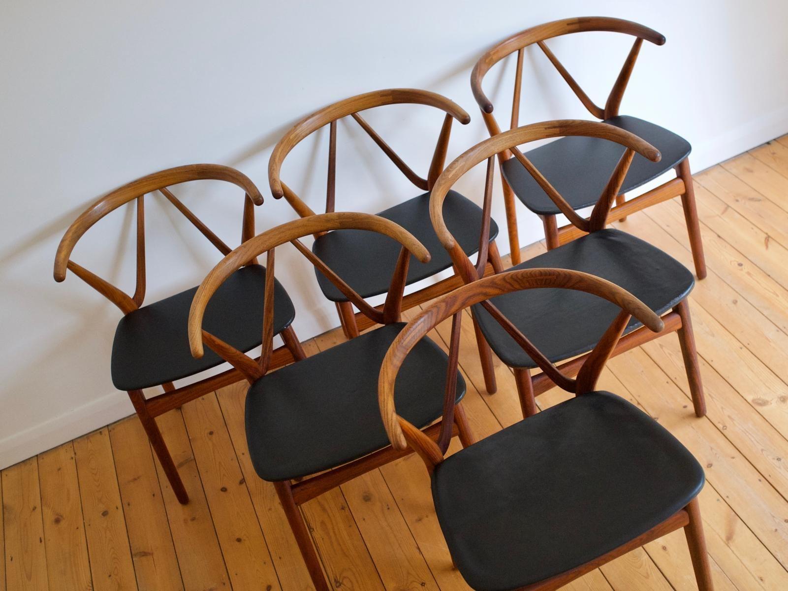 Rosewood Chairs by Henning Kjærnulf for Bruno Hansen
