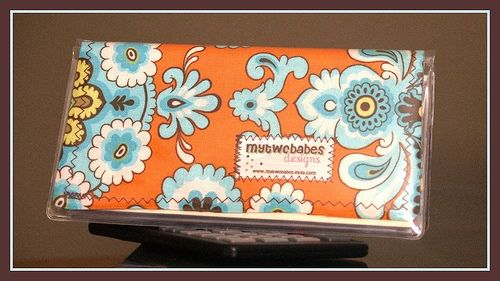 MYTWOBABES TUTORIAL :: FABRIC CHECKBOOK COVER INSERT