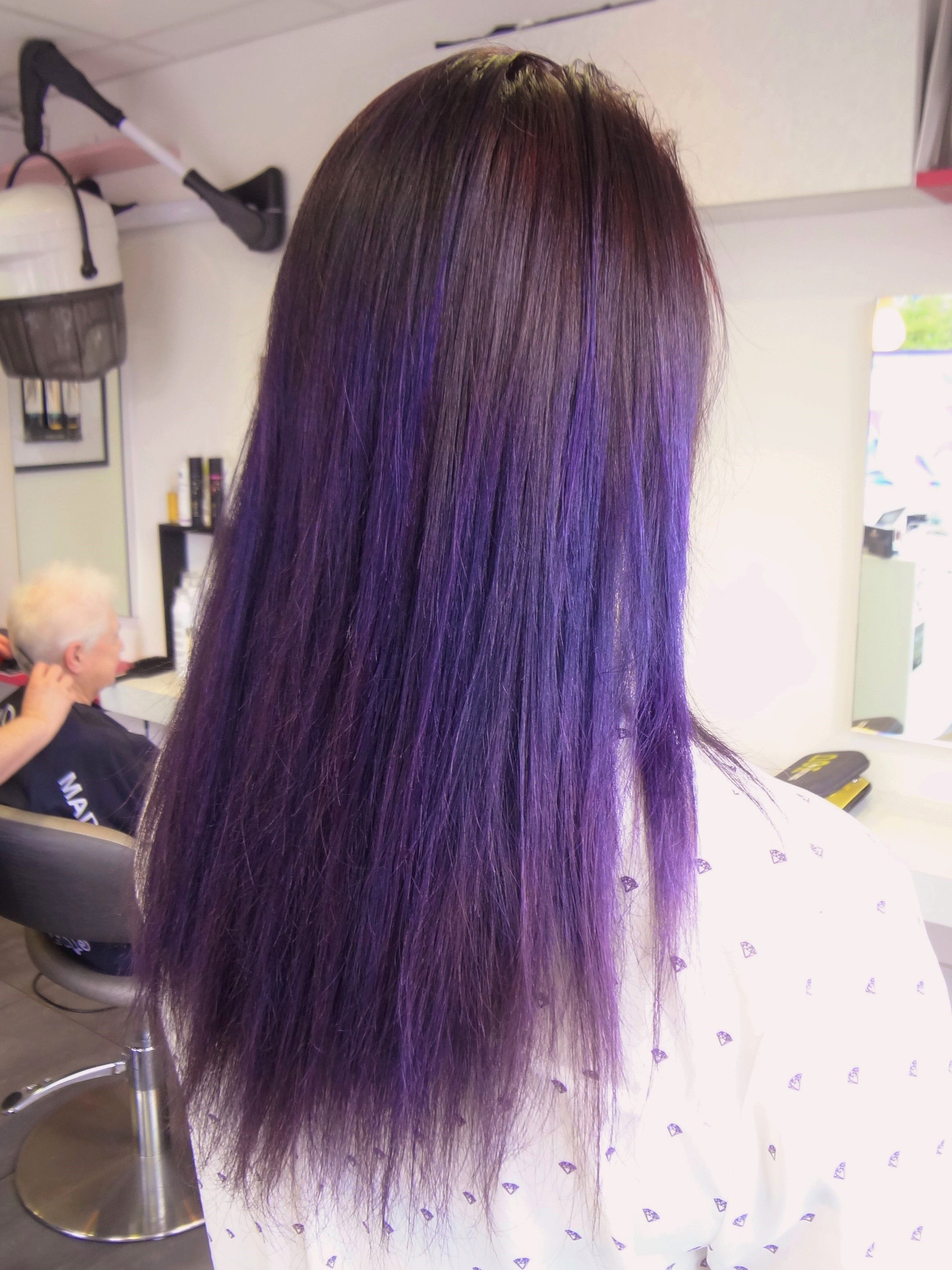 Coloration Mauve Ombree Realisee Au Salon Herveou Coiffure A Brest Hair Blog Long Hair Styles Hair Styles