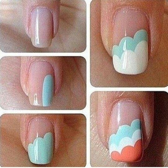 Cloud Nail Tutorial Awesome Nails Pinterest Make Up