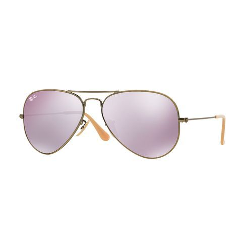 3faf6ea832 Ray-Ban Aviator Flash Sunglasses Bronze Copper - Case Sunglasses at Academy  Sports