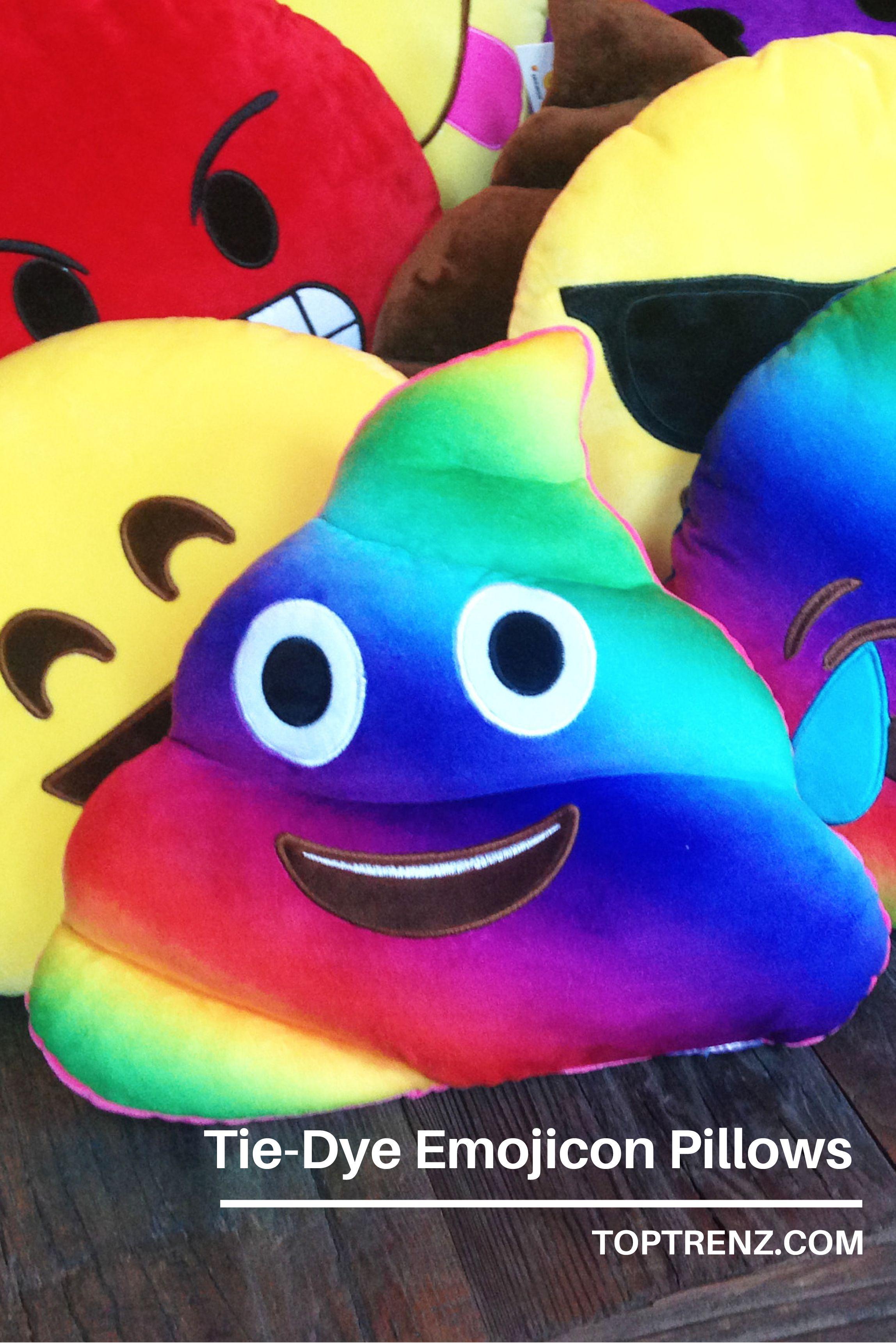 Tie-Dye #emoji pillows in lots of new styles.