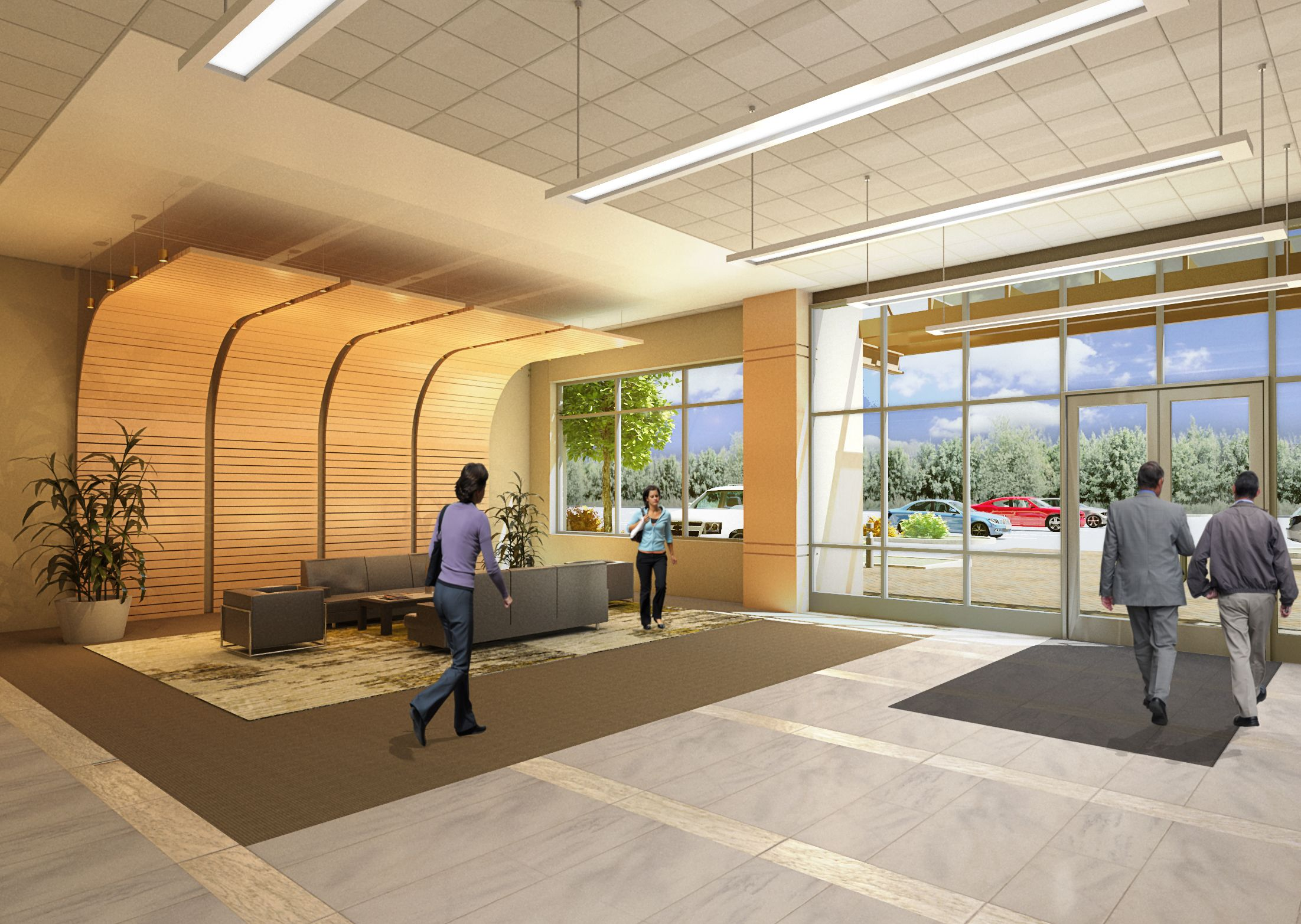 Front Desk Design Tag: Lobby Design, Loft Design, Office Designs ...