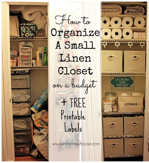 Small Linen Closet Organization | Small Linen Closets, Linen Closet  Organization And Closet Organization