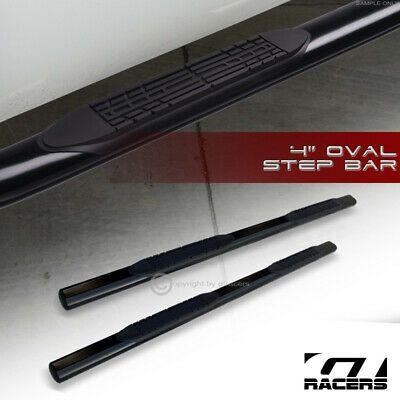"""For 2006-2014 Honda Ridgeline 4/"""" Oval Blk Side Step Nerf Bars Rail Running Board"""