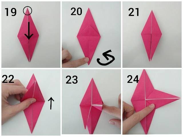 かわいいバラを折り紙で作ろう 簡単に折れる立体的なバラの花 画像