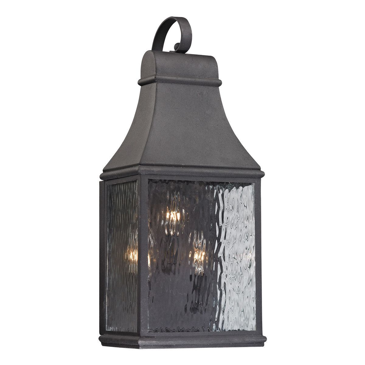 Forged jefferson light outdoor wall sconce in charcoal products