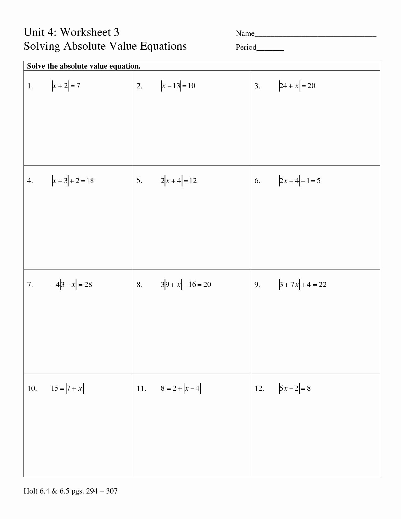 Absolute Value Inequalities Worksheet Answers New