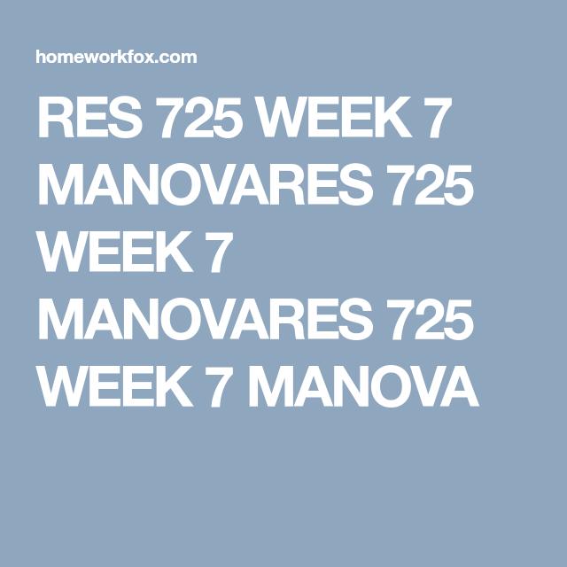 Dissertation using manova