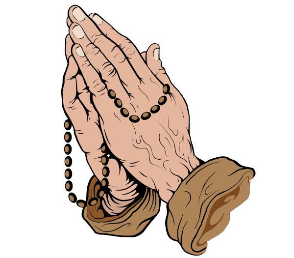 Praying Hands Vector Art Free Praying Hands With Rosary Praying Hands Vector Art