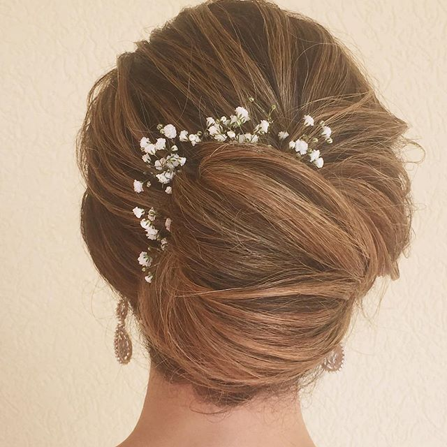 French Twist Wedding Hairstyles: Textured French Twist Bridal Updo In 2019