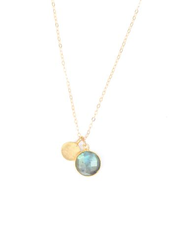 Labradorite Charm Necklace - JewelMint