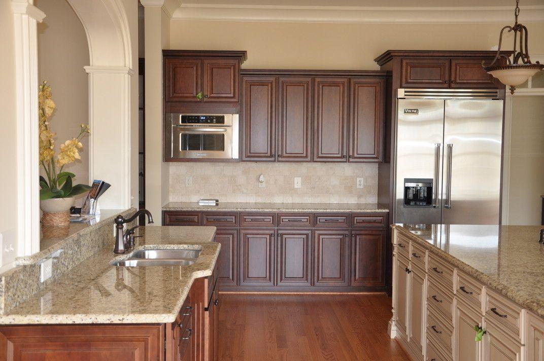 Raleigh Kitchen Remodel Decor Perfect Countertop With Backsplash  New Venetian Gold Granite .