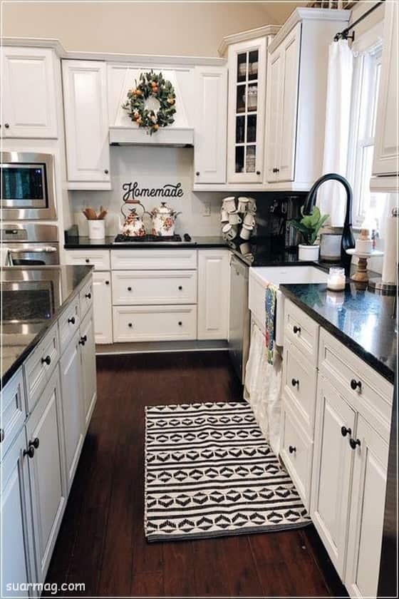 اجمل صور ديكورات مطابخ صغيرة وكبيرة 2020 مودرن مجلة صور Kitchen Design Diy Farmhouse Kitchen Countertops Kitchen Remodel
