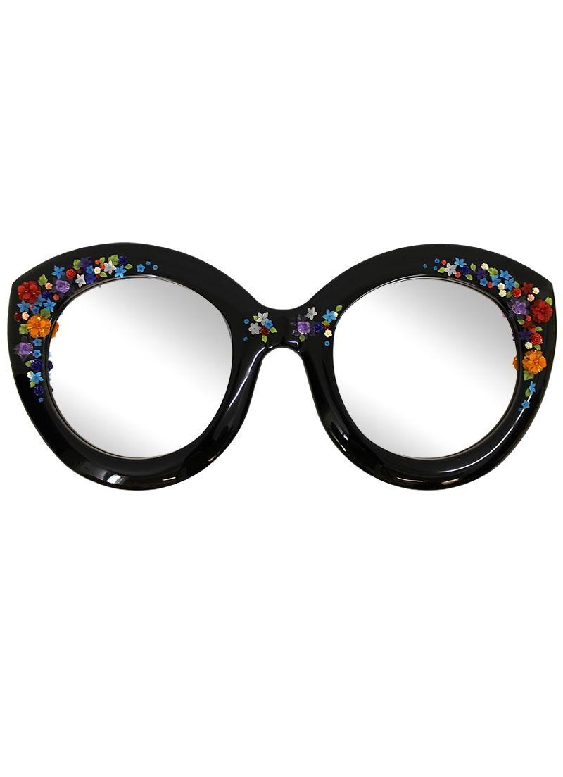 Spiegel-Brille mit blauen Blumen | Optical stuff | Pinterest ...