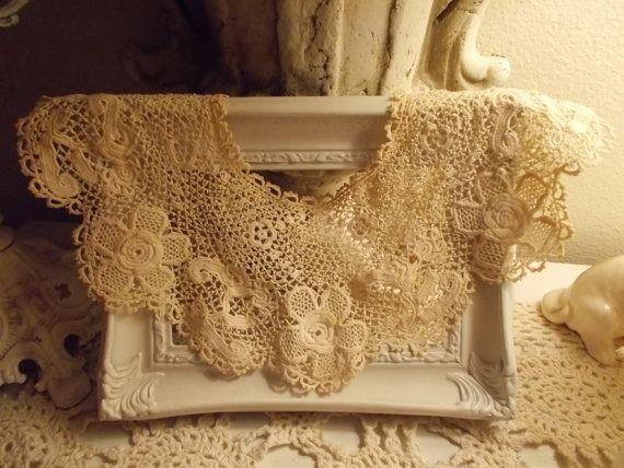 Vintage Crochet Victorian Fancy Dress Up Lace Collar by jjandjacee, $10.00