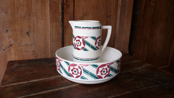 French antique jug and bowl toilet set by ancienesthetique ...