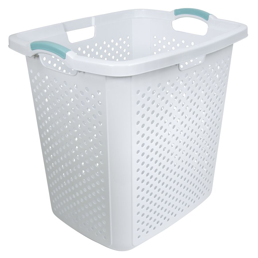 Home Logic 2 5 Bushel Plastic Laundry Hamper Lowes Com In 2020