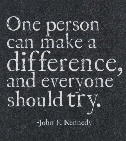 'One Person Can Make a Difference' Magnet