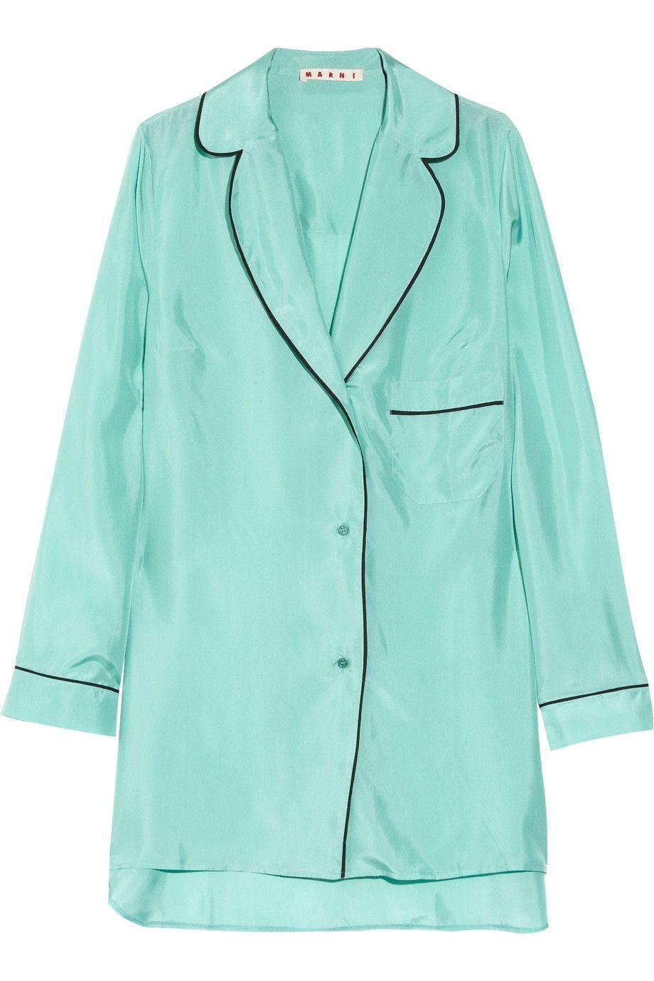 3f67b0d572 Marni Oversized Silk Pyjama Shirt